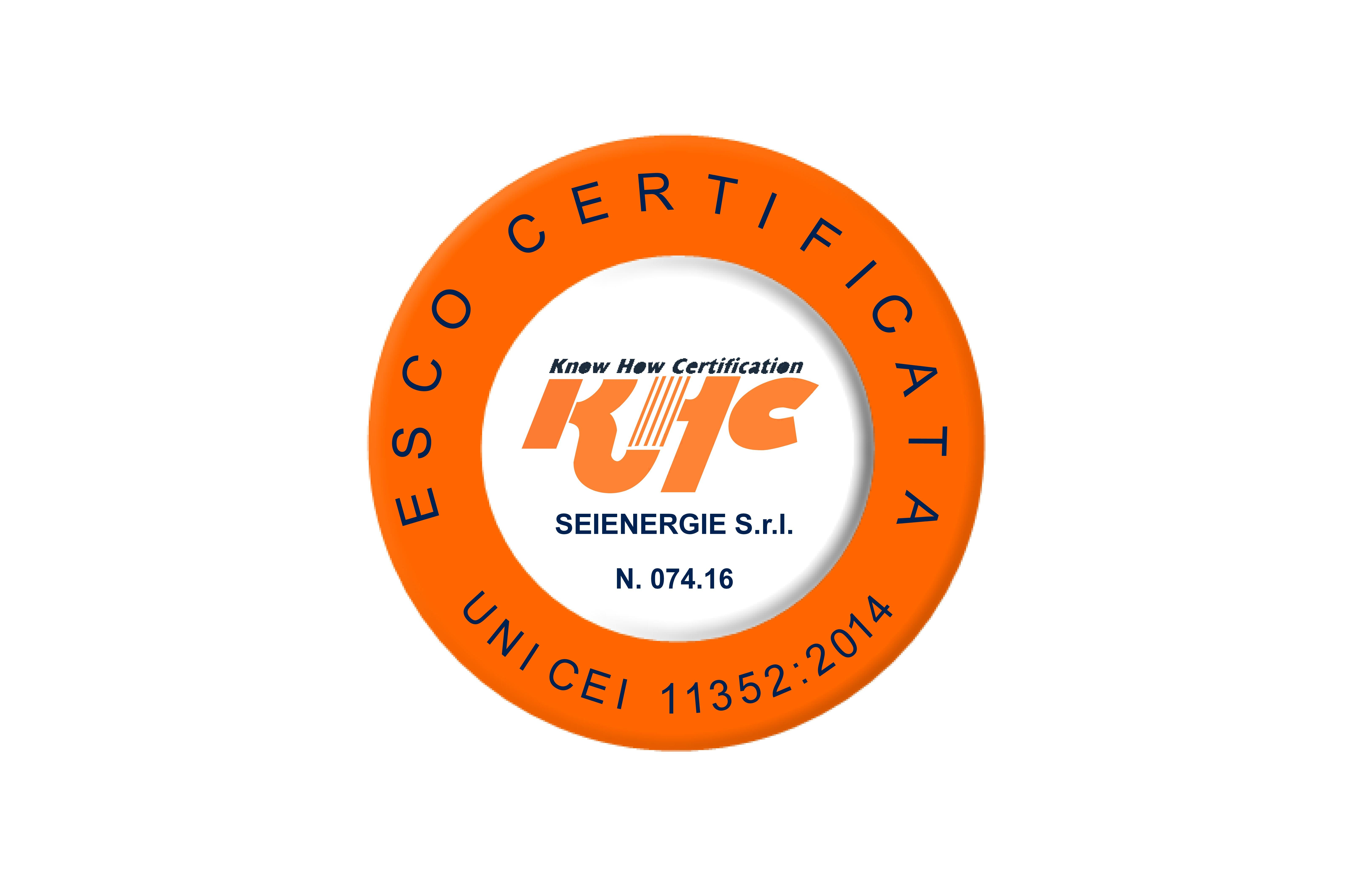 certificazione ESCo Seienergie