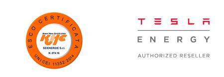 Certificazione ESCo Tesla premium reseller